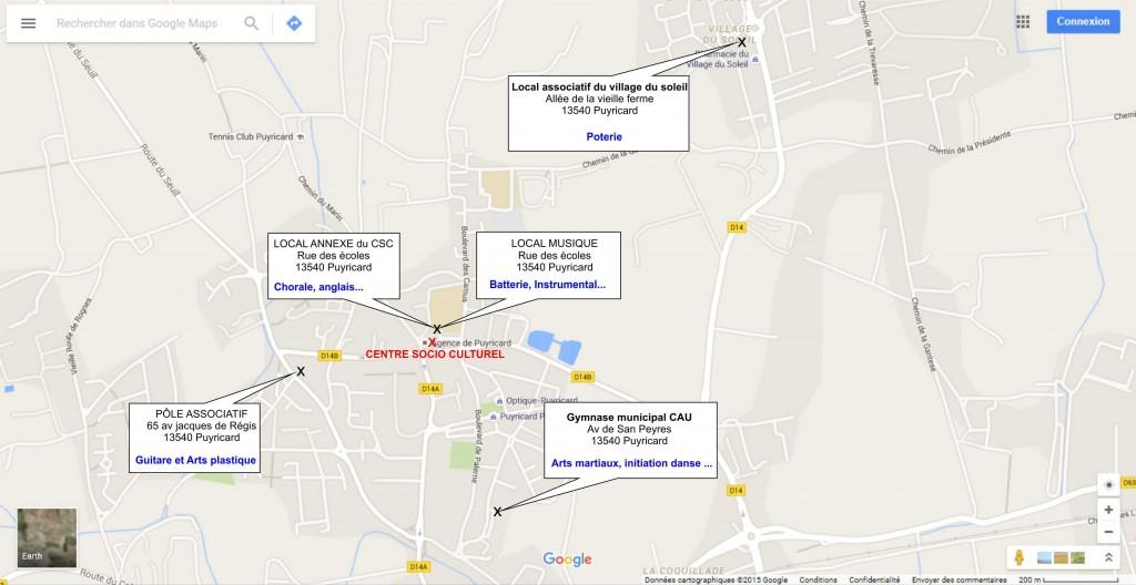Plan de situation activités - CSC Davin
